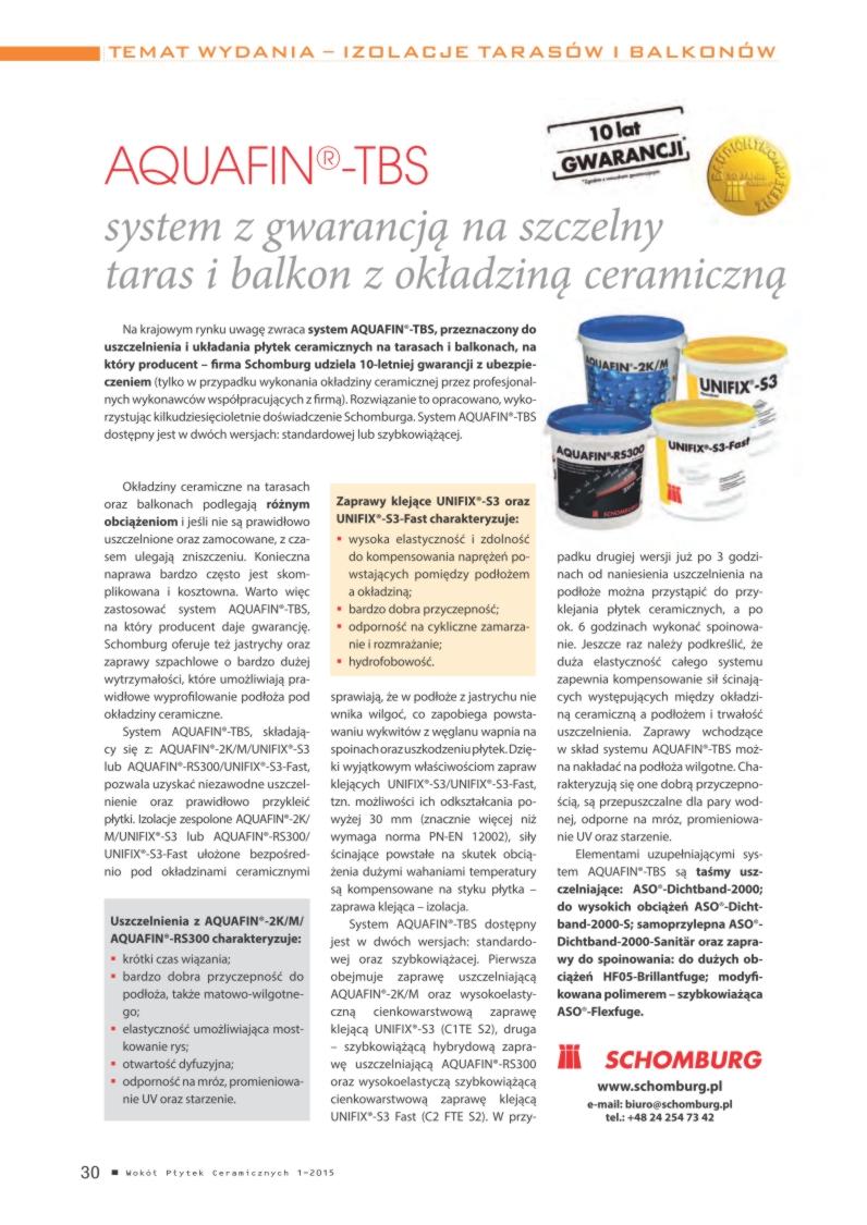 Płytki Ceramiczne Aquafin Tbs System Z Gwarancją Na